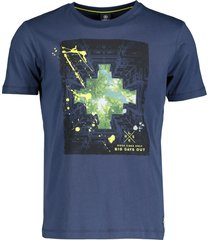 lerros t-shirt - regular fit - blauw