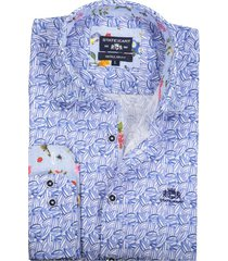 state of art blauw shirt print regular fit