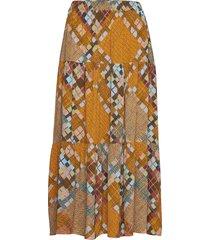 malte mw midi skirt knälång kjol gul second female