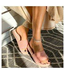 slide pêlo chinelo feminino pantufa casual pelinho pelúcia moda