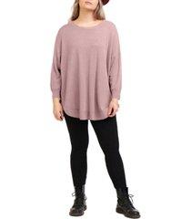 black tape plus size drop-shoulder sweater
