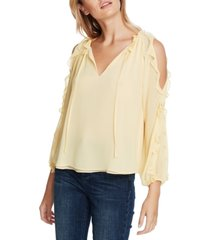 1.state ruffled cold-shoulder top