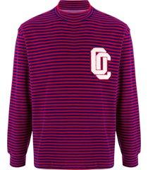 opening ceremony horizontal-stripe long-sleeved sweatshirt - red