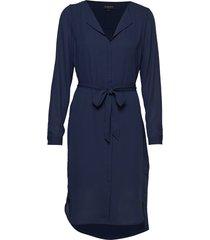 slfdynella ls dress noos jurk knielengte blauw selected femme