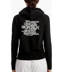 long island beach graphic hoodie