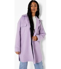tall oversized tussenjas, lilac