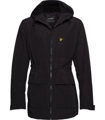 micro fleece lined jacket parka jas zwart lyle & scott