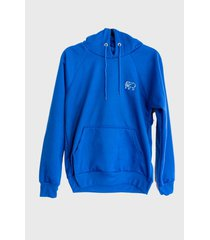 buzo-hoodie logo bordado hombre azul-blanco kuva - elefante