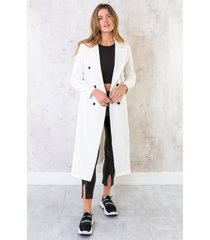 ultra long coat offwhite