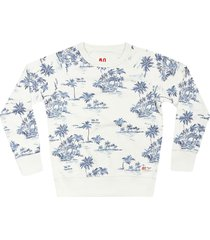 ao76 palm print sweatshirt