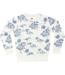 ao76 palm print sweatshirt