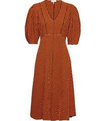 riley dress knälång klänning orange notes du nord
