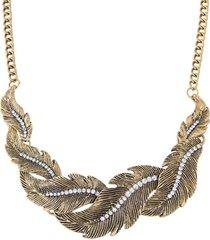 collar dorado pluma sasmon cl-13272