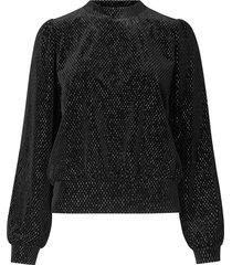 sweater met lurex nancy  zwart