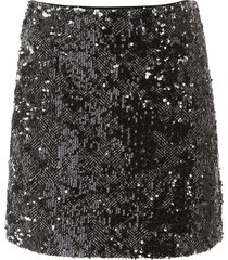 michael michael kors tweed and sequins mini skirt