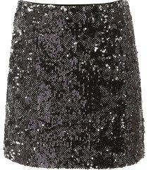 michael michael kors tweed and sequins mini skirt