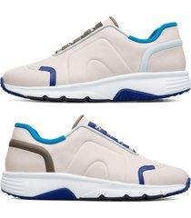 camper twins, sneaker uomo, beige/blu/grigio, misura 46 (eu), k100488-001