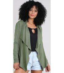 capa feminina assimétrica verde
