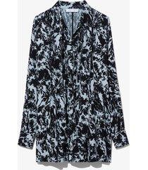 proenza schouler white label shadow print dress seal blue/black shadow print 8