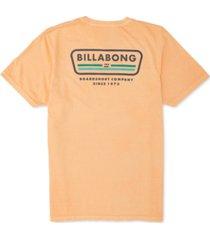 billabong men's badge logo graphic t-shirt