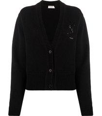 cashmere cardigan sweater noir black