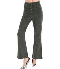 pantalón cotelé abotonado verde nicopoly