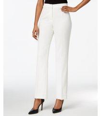 kasper straight-leg crepe pants
