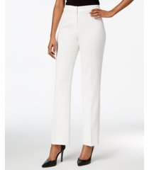 kasper straight-leg modern crepe dress pants