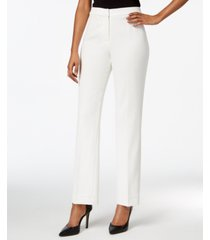 kasper straight-leg modern crepe dress pants