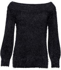 maglione in filato soffice con spalle scoperte (nero) - bodyflirt