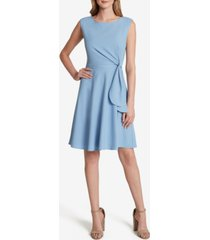 tahari asl side-tie shift dress