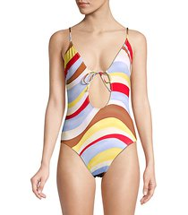 the kelsey wave cut-out one-piece swimsuit