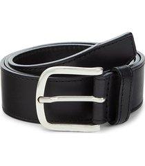boss hugo boss men's sash leather belt - black - size 32