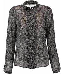 blouse fringes zwart