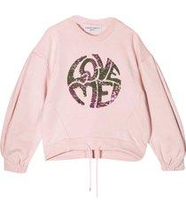 alberta ferretti pink sweatshirt