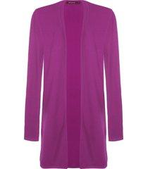 cardigan feminino tricot boheme - rosa