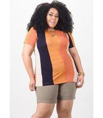 blusa estampada kauê plus size feminina - feminino