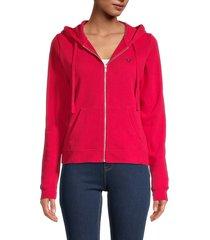true religion women's logo-print cotton-blend jacket - ace - size m