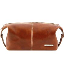 tuscany leather tl140349 roxy - beauty case in pelle miele