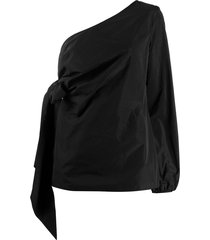 nº21 one shoulder draped blouse - black