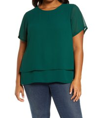 plus size women's michael michael kors split back tiered top