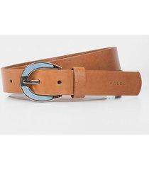 cinturón unifaz de cuero para mujer liso
