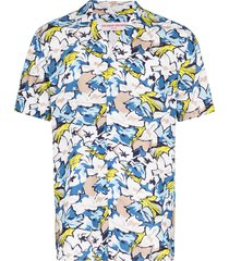 orlebar brown travis south beach shirt - blue