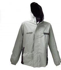 chaqueta impermeable over para motociclista doble fas talla l