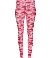 legging deportivo estampado tonos rosa color rosado, talla s