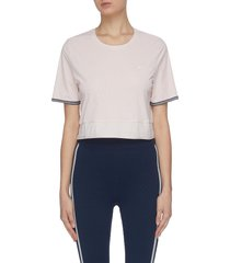 'anela' performance cropped top