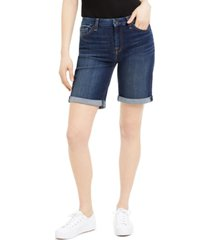 jen7 by 7 for all mankind denim bermuda shorts with rolled cuffs