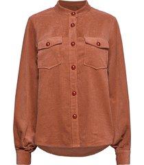 jacket in corduroy overhemd met lange mouwen bruin coster copenhagen