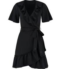 suzy ruffle wrap dress