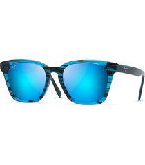 men's maui jim shave ice 52mm polarized sunglasses - electric blue